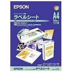 エプソン EPSON スーパーファイン専用ラベルシート A4/10枚 MJA4SP5