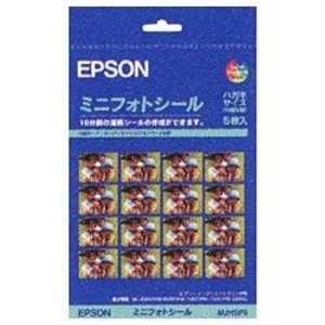 エプソン EPSON ミニフォトシール(ハガキサイズ/16分割)5枚 ハガキ5枚 MJHSP5