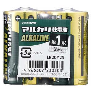 ヤザワ 単1電池 [2本 /アルカリ] ドットコム専用 LR20Y2S