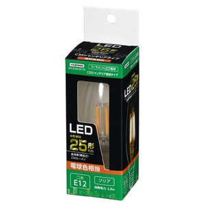 ヤザワ C32シャンデリア形LED[E12/L色/CL 25W形相当] クリア LDC2LG32E12C