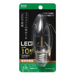ヤザワ C36シャンデリア形LED[E26/L色/CL 10W形相当] クリア LDC1LG36C