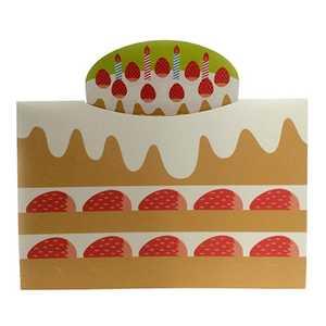 セキセイ フォトスタンド・カード<ハーフ>(ケーキ) ハーフケーキ GPC01H