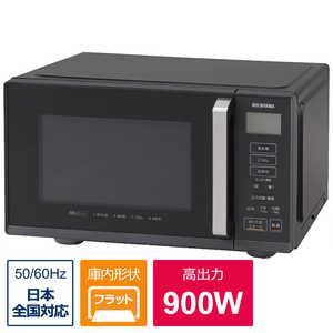 アイリスオーヤマ IRIS OHYAMA フラット電子レンジ ブラック IMBF2201B
