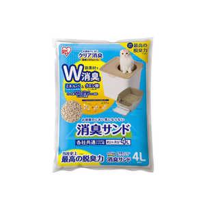 アイリスオーヤマ IRIS OHYAMA お部屋のにおいクリア消臭 猫用システムトイレ消臭サンド無香料4L 4L ONCM4L