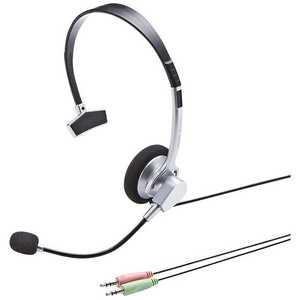 サンワサプライ ヘッドセット [φ3.5mmミニプラグ /片耳 /ヘッドバンドタイプ] MMHS519NCN
