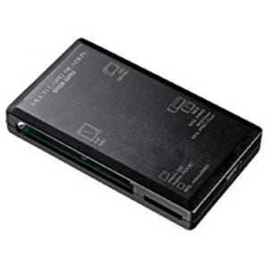 サンワサプライ USB2.0 カードリーダー/ライター(ブラック) ブラック ADRML1BK