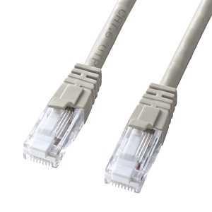 サンワサプライ CAT6 LANケーブル ツメが折れない (ライトグレー・1.0m) KBT6TS01