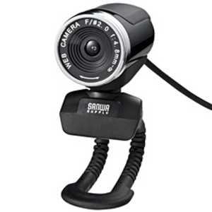 サンワサプライ 「Windows8対応」WEBカメラ「USB・FULL HD」手動フォーカス ブラック CMSV37BK