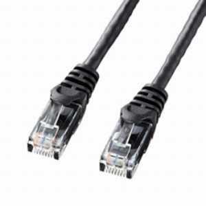 サンワサプライ カテゴリー6対応 LANケーブル (ブラック・0.5m) ブラック LAY6005BK