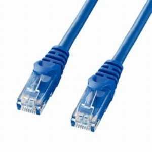 サンワサプライ カテゴリー6対応 LANケーブル (ブルー・0.5m) ブルー LAY6005BL