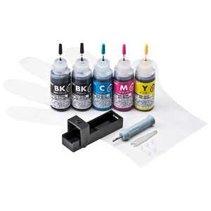 サンワサプライ 「詰替」「キヤノン:5色対応」 つめかえインク INKC350S30S5
