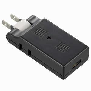 オーム電機 USB電源タップ USB1個口+AC2個口 黒 HSTM2U1K3K