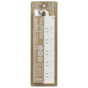 TAGlabel by amadana amadana TAG Label 5個口電源タップ雷ガード付2.5m PB#2.5m ATMOSK525