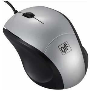 オーム電機 有線Blue LEDマウス[USB・Mac/Win] Sサイズ (3ボタン・シルバー) シルバー PCSMBL1SS