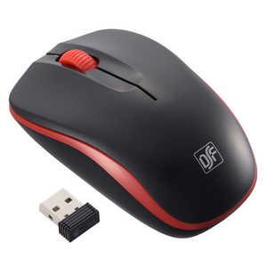 オーム電機 マウス 静音設計 ブラック/レッド [IR LED /3ボタン /USB /無線(ワイヤレス)] ブラック/レッド PCSMWIMS32K