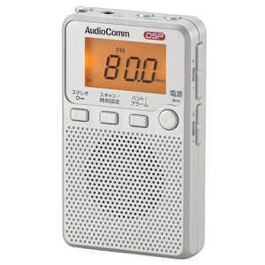 オーム電機 FM/AM ポケットラジオ シルバー RADP2229SS