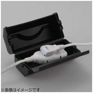 オーム電機 防雨型コンセントBOX ブラック [スイッチ無] ブラック HSBOX01