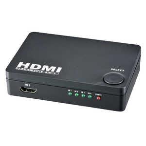 オーム電機 HDMIセレクター 4ポート 黒 AVBKS01K