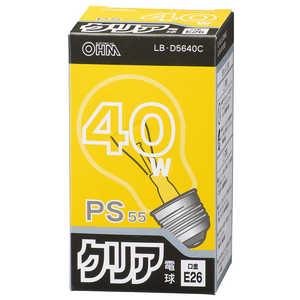 オーム電機 白熱電球 (40W形/クリア・口金E26) クリア LBD5640C