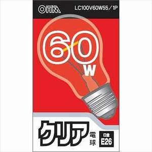 旭光電機工業 白熱電球 クリア LC100V60W551P