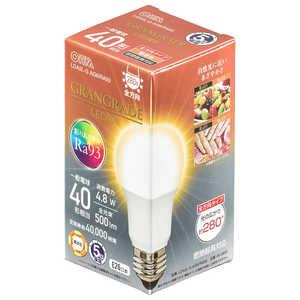 オーム電機 LED電球 E26 40形相当 電球色 E26/L/40W LDA5LGAG6RA93