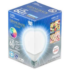 オーム電機 LED電球 ボール電球形 E26 60形相当 昼光色 E26/D/ボール LDG8DGAG6RA93
