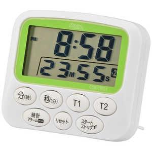 オーム電機 時計付きデュアルタイマー COKTW01