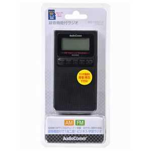 オーム電機 ワイドFM対応録音機能付ラジオ ブラック RADF830ZK