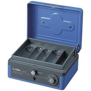 カール事務器 キャッシュボックス(M)ブルー 手提金庫 CB8100B