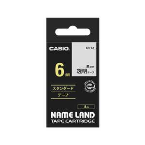 カシオ CASIO ネームランド テープカートリッジ スタンダードテープ(6mm) XR6X