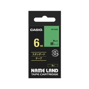 カシオ CASIO ネームランド テープカートリッジ スタンダードテープ(6mm) XR6GN