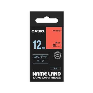 カシオ CASIO ネームランド テープカートリッジ スタンダードテープ(12mm) XR12RD