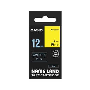 カシオ CASIO ネームランド テープカートリッジ スタンダードテープ(12mm) XR12YW