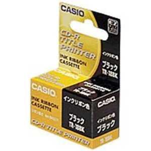 カシオ CASIO DISKタイトルプリンター 専用インクリボンカセット TR18BK