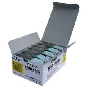 カシオ CASIO ネームランド スタンダードテープ(黄テープ/黒文字/18mm幅・5本入) 5本セット XR18YW5PE