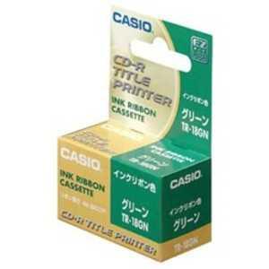 カシオ CASIO DISKタイトルプリンター 専用インクリボンカセット TR18GN
