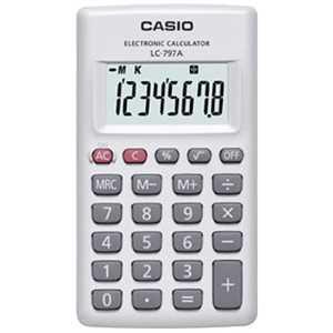 カシオ CASIO カード型電卓(8桁) LC797AN