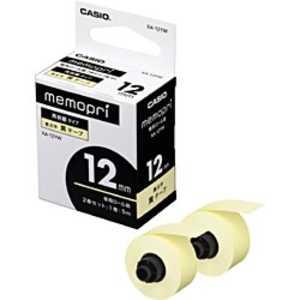 カシオ CASIO メモプリンターテープ 12mm幅(黄テープ) イエロー XA12YW