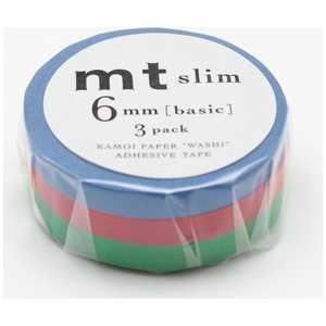 カモ井加工紙 「マスキングテープ」6mm×10m 3P mt slim H MTSLIM14
