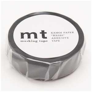 カモ井加工紙 「マスキングテープ」mt 1P(マットグレー) マットグレー MT01P405