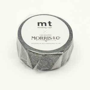 カモ井加工紙 「マスキングテープ」mt ウィリアム・モリス Pure Honeysuckle &Tullip Black ink MTWILL18