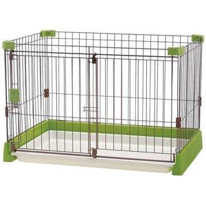 リッチェル ペット用お掃除簡単サークル 90-60 グリーン 犬 オソウジカンタンサークル9060GR