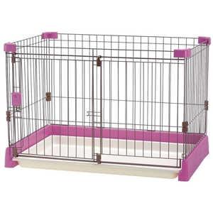 リッチェル ペット用お掃除簡単サークル 90-60 ピンク 犬 オソウジカンタンサークル9060PI