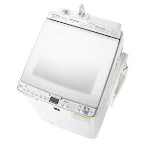 シャープ SHARP 【在庫限り】縦型洗濯乾燥機 [洗濯8.0kg/乾燥4.5kg/ヒーター乾燥/穴なし槽/ふろ水ポンプ付] W ESPX8E