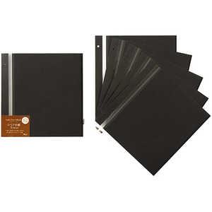 セキセイ スペア台紙<ライトフリー>M アルバムカフェ ブラック ブラック XP46F60