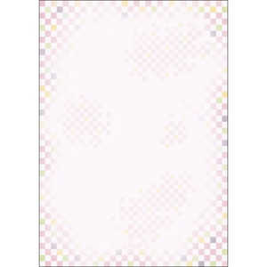 ササガワ 和ごころ 桃色市松 (A4サイズ・10枚) 桃色市松 A4/10 41040