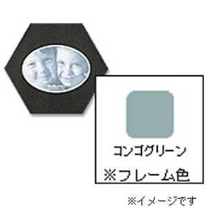 チクマ フォトフレーム 「ハニマット」(L1枚入り・楕円ヨコ/コンゴグリーン) グリーン ハニマットL1ダエンヨコGR