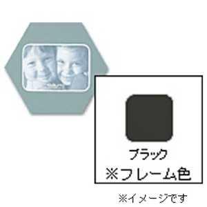 チクマ フォトフレーム 「ハニマット」(L1枚入り・角ヨコ/ブラック) ブラック ハニマットL1カクヨコ