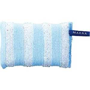 マーナ キラキラボーダースポンジ ブルー K228B