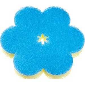 マーナ おはなスポンジ ブルー K364B